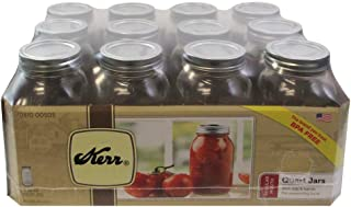 Kerr 1 Qt. (32 oz) Regular Mouth Canning Jars Set of 12
