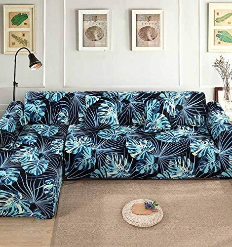 Funda de sofá Funda de sofá elástica Funda de sofá para Sala de Estar Funda de sofá de Esquina en Forma de L Chaise Longue A16 4 plazas