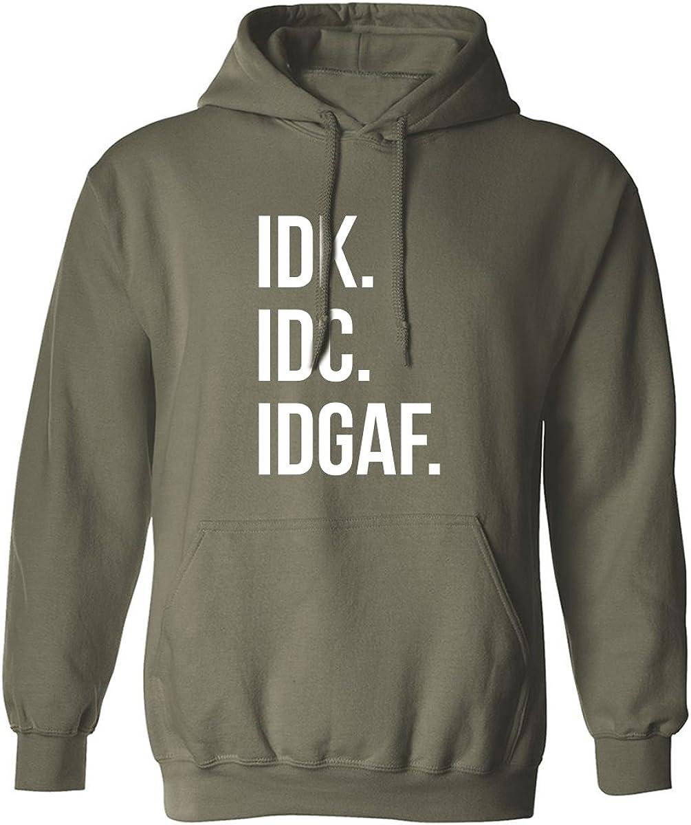IDK.IDC.IDGAF. Adult Hooded Sweatshirt