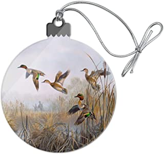 GRAPHICS & MORE Green-Winged Teal Ducks Taking Flight Hunters Hunting Acrylic Christmas Tree Holiday Ornament