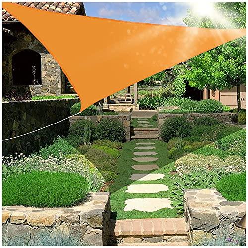 HJXX Sombra de vela triángulo impermeable, terraza de protección solar, toldo triangular, vela de 329 g/m², bloque UV para patio al aire libre, jardín, patio trasero, césped y patio