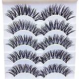 5 pares de pestañas postizas naturales, pestañas postizas para mujer, maquillaje elegante hecho a mano, 5 pares de pestañas postizas naturales largas, extensiones exquisitas