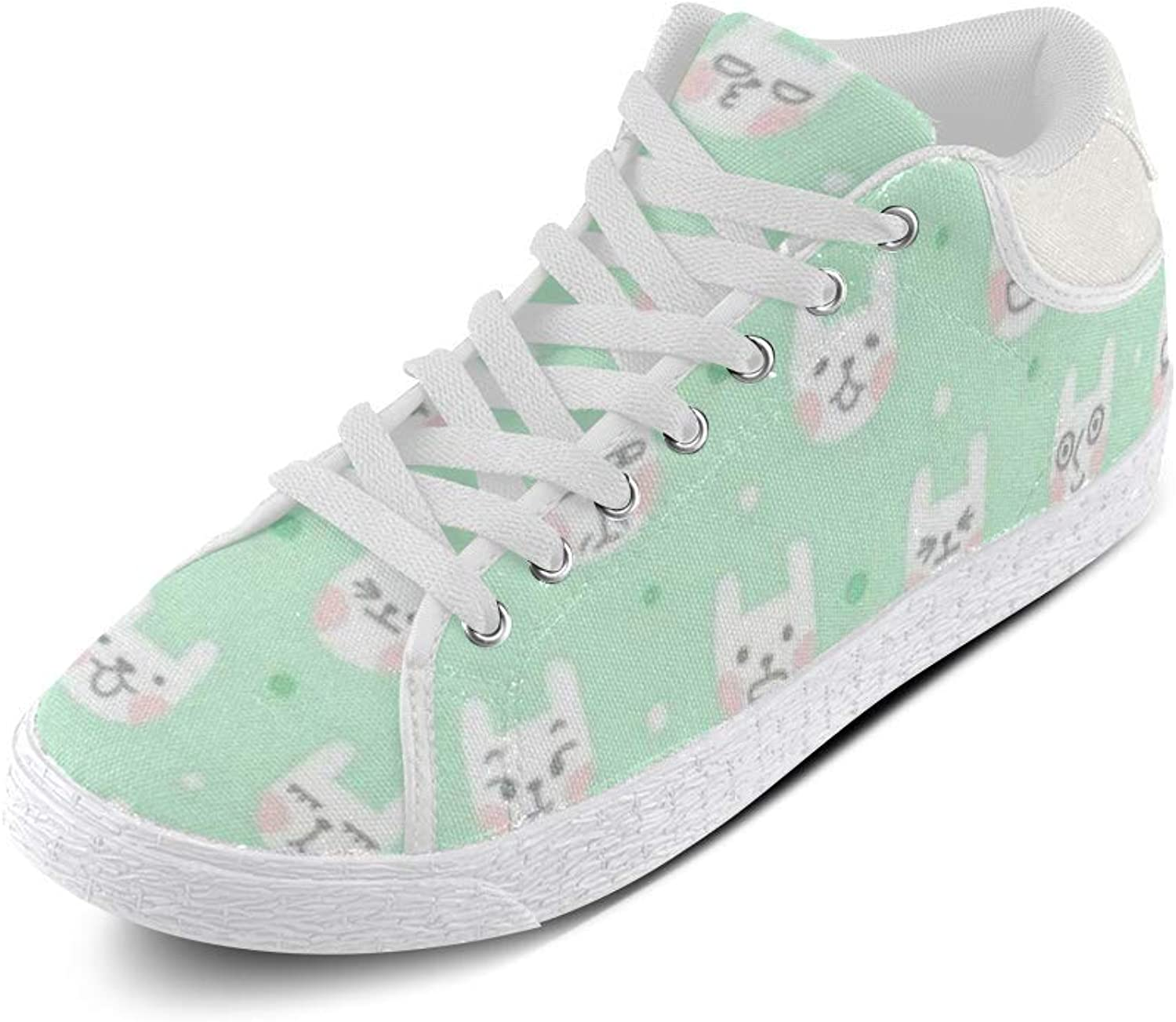CERLYRUAN Cute Kitty Kitten Face Canvas Chukka Canvas Women's shoes