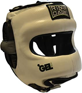 Ring to Cage Deluxe Full Face GelTech Sparring Headgear Synthetic Leather for Boxing, Muay Thai, MMA, Kickboxing