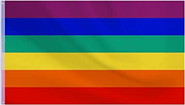 TOYMYTOY 2 ST/ÜCKE Regenbogen Flagge 3 x 5ft Polyester Stolz LGBT Banner Flagge mit Messing /Ösen