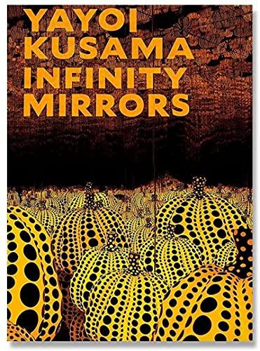 Magníficas imágenes 2 piezas de 60x80 cm sin marco Yayoi Kusama's eterna calabaza exposición de arte cuadros de arte de pared y pinturas en lienzo