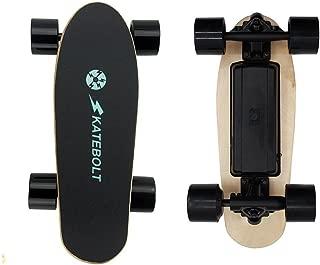 SKATEBOLT Electric Skateboard Mini Fashion Gift S5 Motorized Skateboard with Remote Control, 70 mm Hub Motor Powered, 7.9 lb NW, 25.2 V Lithium Battery,250 W HUB Motor