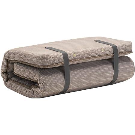 フランスベッド 敷きふとん ブラウン 「シングル」 ラクネスーパープレミアム 折畳めるスプリングマットレス 31867100