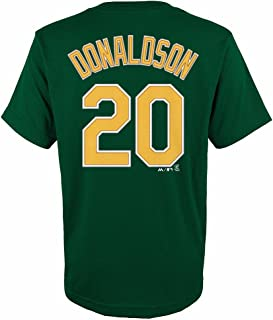 Majestic Josh Donaldson Oakland Athletics MLB Youth's Green Player Name & Number Jersey T-Shirt
