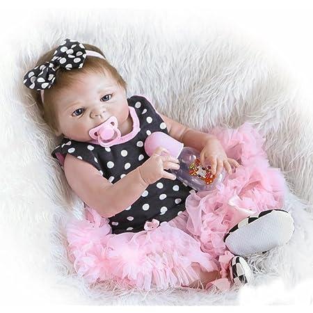 Reborn Baby Boy Doll Silicone Dolls Toddler Vinyl Newborn Body Full 60cm Realist