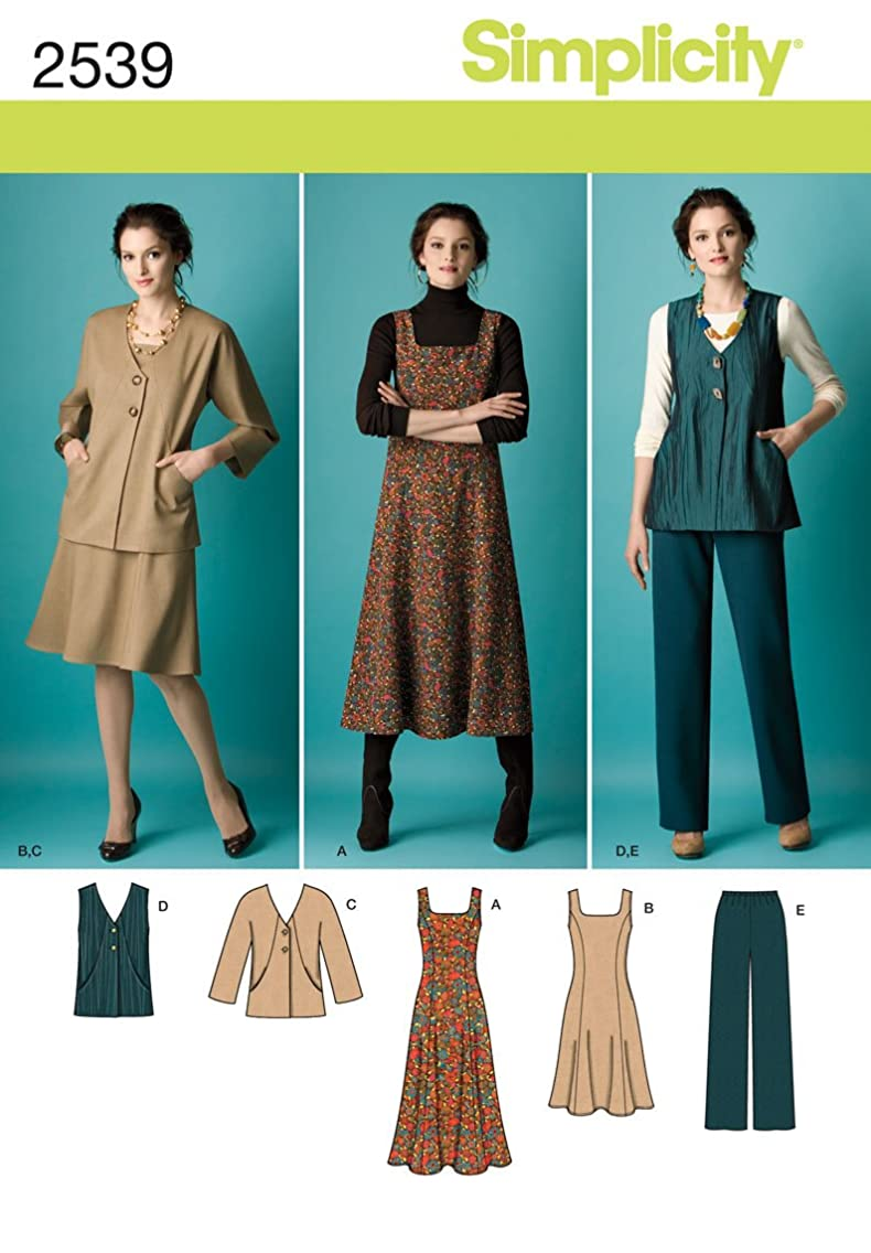 Simplicity Pattern 2539 Womens Jumper in 2 Lengths, Pants and Jacket or Vest Size 20W-28W