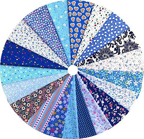 Grannycrafts 20 Piezas 20x30cm Parte Superior Algodón Impreso Craft Tela Cuadrados Patchwork Pelusas Impresión de Tela Tejido DIY Coser Scrapbooking Acolchar Serie Azul