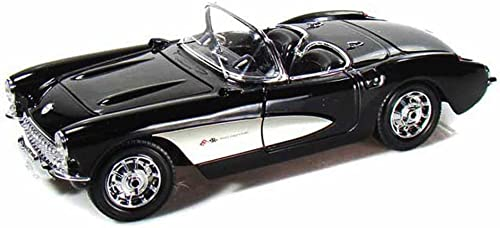 1957 Chevy Corvette Convertible, noir - Maisto 31139 - 1 18 Scale Diecast Model Toy voiture
