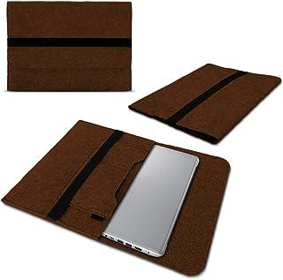 Beschermhoes compatibel met Lenovo Yoga 9i vilt tas sleeve hoes laptop cover notebook case 14 inch, kleur: bruin