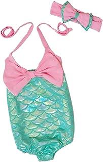 Size 4T Aqua Mint-Flower Print Healthtex Health Toddler Girl ONE Piece Tutu Swimsuit
