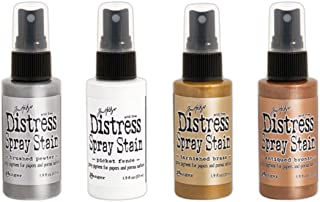 Ranger Tim Holtz Distress Spray Stains - Metallics and White - Four Items