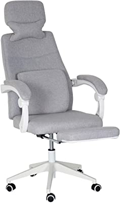 EROMMY Ergonomic Office Chair, High Back Adjustable with Footrest and Headrest Desk Chairs with Flip Up Armrests and Lumbar Support Computer Chair for Conference Room, Gray