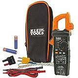 Klein Tools CL700 AC Auto Ranging 600 Amp Digital Clamp Meter, Temperature, Capacitance,...