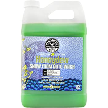 Chemical Guys CWS_110 Honeydew Snow Foam Car Wash Soap and Cleanser (1 Gal), 128 fl. Oz (Gallon)