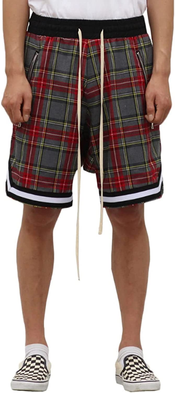 Men's Retro Plaid Shorts Summer Outdoor Casual Hip-hop Style Trend All-Match