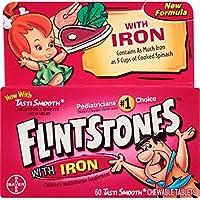 60-Count Flintstones Vitamins Chewable Multivitamins with Iron