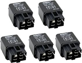 ESUPPORT 12V 40A Car Automotive Van Boat Truck 4 Pins SPST Alarm Relay Air Heavy Pack of 5