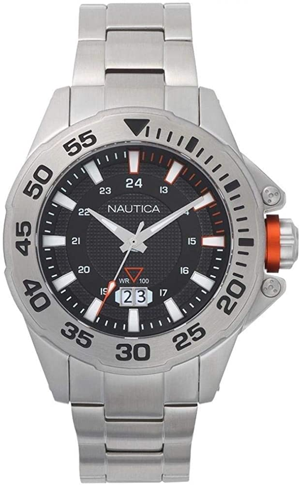 Nautica Reloj Analógico para Hombre de Cuarzo con Correa en Acero Inoxidable NAPWSV004