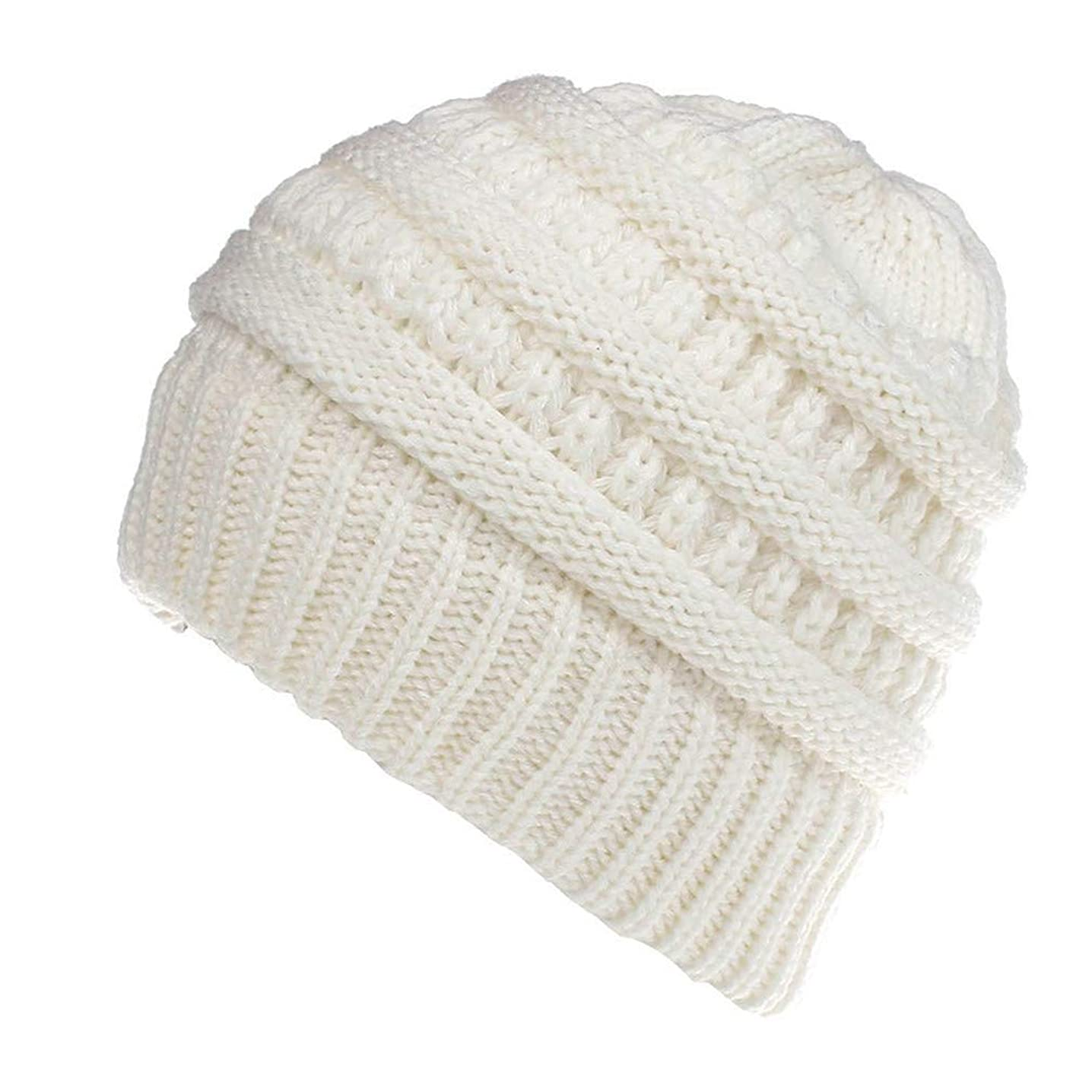 KA DUNSI Men Women Baggy Warm Crochet Winter Ski Beanie Knitted Hat