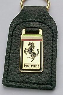 Unbekannt Ferrari Schlüsselanhänger Emaille Leder