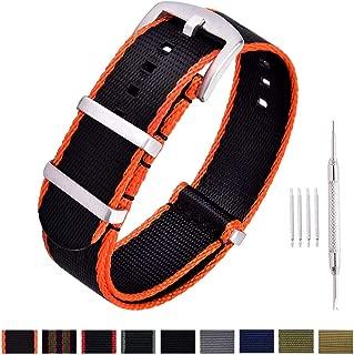 NATO Watch Strap with Heavy Buckle 18mm 20mm 22mm Premium Seat Belt Nylon Watch Bands for Men Women
