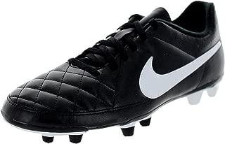 Nike Men's Tiempo Rio II FG Black/White Soccer Cleat 6.5 Men US