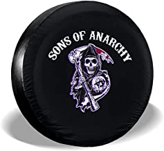 Hqjmpdl Sons of Anarchy Fitness Popular Waterproof Dust-Proof Univesal Spare Tire Cover for Jeep, Trailer, RV, SUV, Truck Wheel