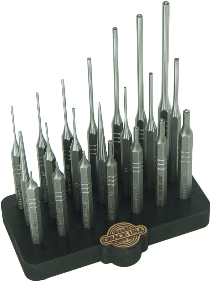 Grace USA – Steel Punch Set with Bench Block