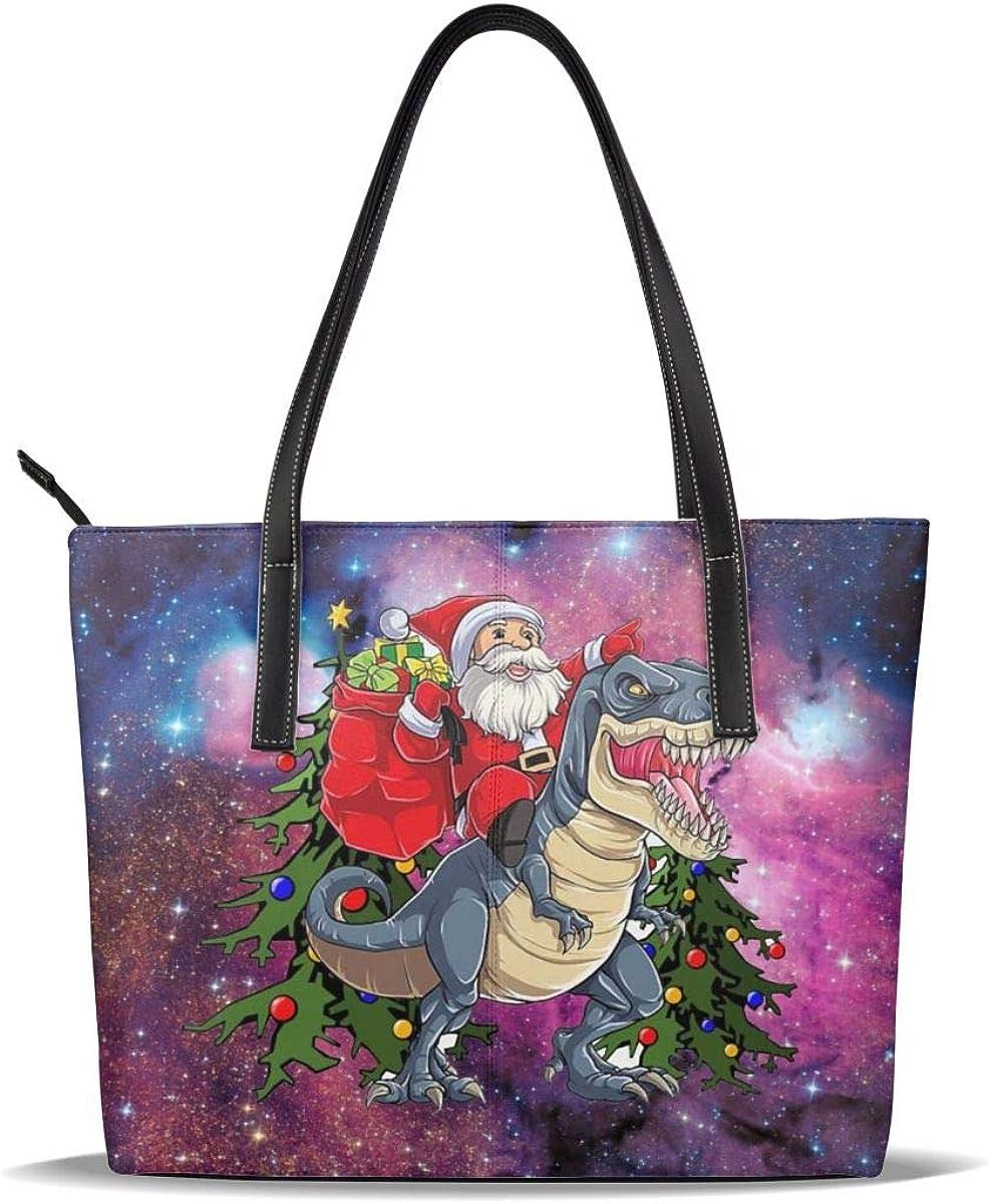 Dinosaur depot Santa Claus On Ride Galaxy Printed Leather C PU Pattern quality assurance
