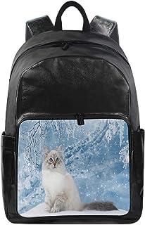 Lustiger Rucksack mit Schneeflocke, süßes Tier-Schultertasche für Wandern, Camping, Schulreisen, Computertasche für Kinde...