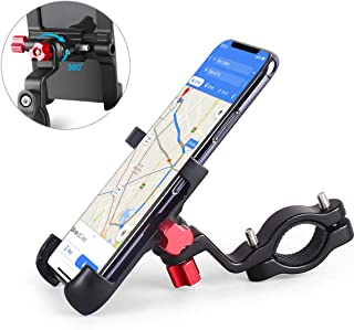 homeasy Universal Bike Phone Mount, Bicycle Holder Handlebar Cellphone Adjustable, Fits iPhone Xs|XS Max, XR, X, 8 | 8 Plus, Galaxy S9, Holds Phones from 3.5-7