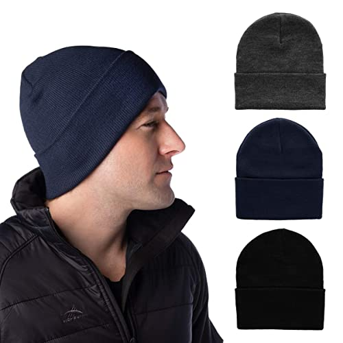 f3c8a984d617f2 DG Hill Set of 3 Mens Warm Winter Hats