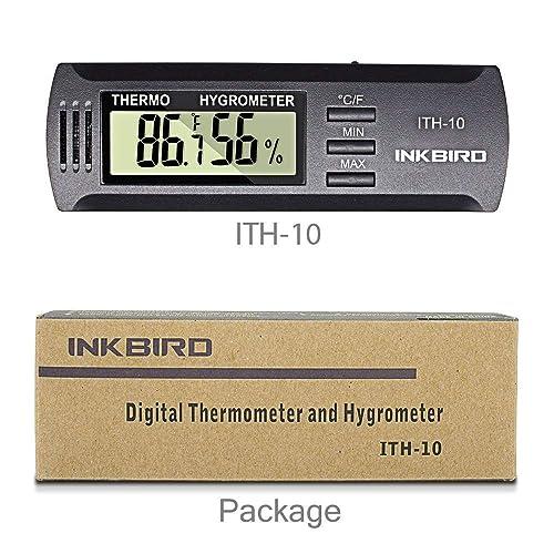 Inkbird ITH-10 Mini Portatil Medidor Temperatura Humedad,LCD Monitor Termómetro Higrómetro Digital para