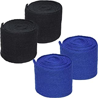 HHSJDW Elastic Hand Wraps Boxing Gloves Boxing Bandage Fist Protector Inner Hand Wraps, perfect for MMA, Kickboxing, Muay Thai ,Boxing, Black & Blue