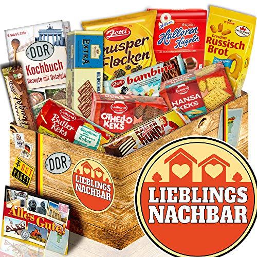 Keks Schachtel / Ost Paket / Geschenk Nachbar geburtstag / Lieblingsnachbar