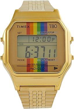 T80 Pride 34 mm Digital Case Rainbow Dial Bracelet
