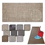 Tappeto passatoia Cucina Lavabile Lucy - antimacchia e Antiscivolo aderisce Perfettamente a Terra Non Piega Si pulisce con straccio - tappeti casa Moderno (50X240, 16)