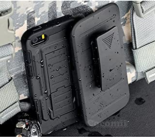 Cocomii Robot Armor iPhone SE/5S/5 Case New [Heavy Duty] Premium Belt Clip Holster Kickstand Shockproof Bumper [Military Defender] Full Body Dual Layer Rugged Cover for Apple iPhone SE/5S/5 (R.Black)