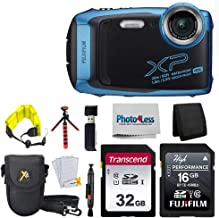 """$229 Get Fujifilm FinePix XP140 Digital Camera (Sky Blue) + 48GB SD Card + Floating Strap + Cleaning System + 12"""" Flexible Tripod + Screen Protectors + SD Card Reader + Memory Card Wallet + Camera Case"""