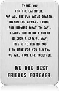 Funny Best Friend Wallet Insert Card for Women Men Friendship for Friend Female Male BFF Sister Brother Besties Birthday G...