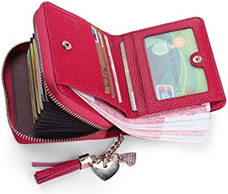 Womens Wallets Pink - Credit Card Wallet Zipper - Credit Card Wallet - Ladies Wallets with Coin Purse - Travel Wallet with...