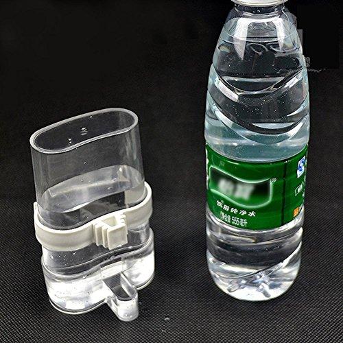 2 pack Alimentador automático de agua de ave Pet Alimentador de plástico transparente Bebedero para bebederos para loros Budgie Cockatiel Aves de corral Paloma Codorniz Jaulas Alimentador