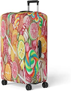 Sweet Candy Store Large Weekender Carry-on Ambesonne Colorful Gym Bag
