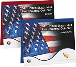 2017 P, D U.S. Mint Uncirculated 20 Coin Mint Set with CoA Uncirculated