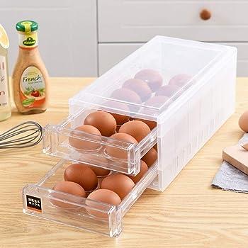 Refrigerator Storage Box Container Crisper Case Kitchen Food Egg Holder
